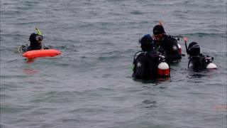 Divers in Guernsey's St Peter Port Harbour