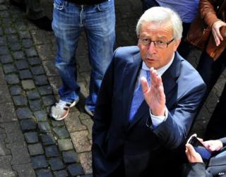 Jean-Claude Juncker in Luxembourg, 25 May