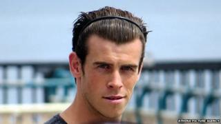 Gareth Bale on Penarth pier