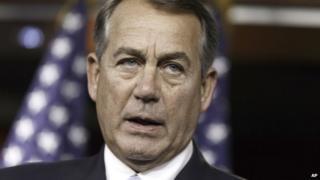 House Speaker John Boehner appeared in Washington on 25 June 2014