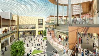 Artists impression of City Sentral scheme