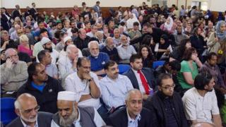 Audience at the meeting