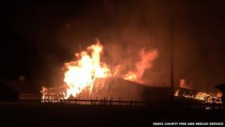 Fire at Kentish Farm