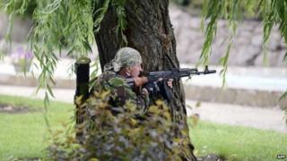 Pro-Russian rebel in Donetsk - 27 June