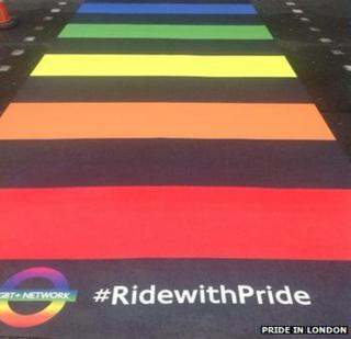 Rainbow street crossing