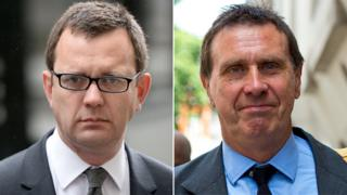 Andy Coulson (left) and Clive Goodman. Pics: Reuters/Getty