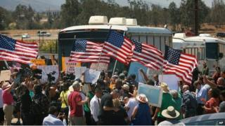Protesters at Murrieta