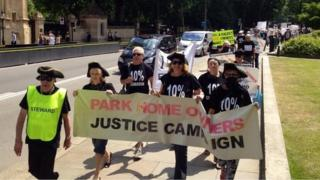 Park homes protest