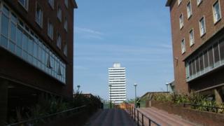 Coventry city centre towerblocks