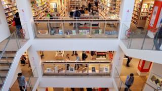 Foyles book shop in London
