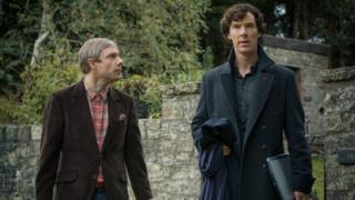 Benedict Cumberbatch and Martin Freeman in Sherlock