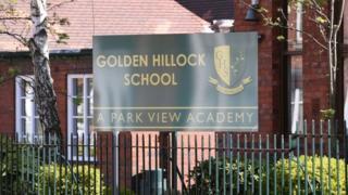 Golden Hillock school sign