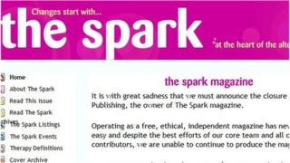 The Spark website