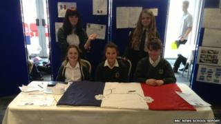 One of our winning teams at their stand in New York Stadium