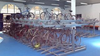 Cycle hub in Sheffield