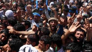 Supporters of Abdullah Abdullah in Kabul (June 2014)