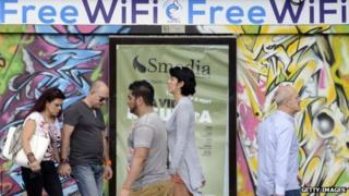 Gowex free wifi poster