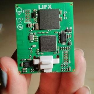 The circuit board used by LIFX light bulbs
