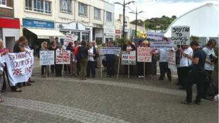 Care at home protest in Truro