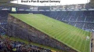 Photo-shopped image of slanting pitch