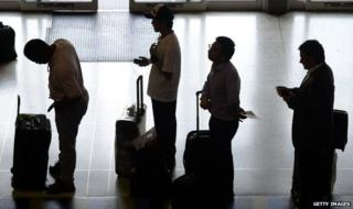 Passengers at Maiquetia International Airport
