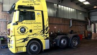 The stolen lorry