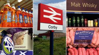 various pictures of Scottish foods found in Corby, such as shortbread