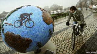 Cyclist in Copenhagen