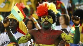 Ghana fan in Brazil