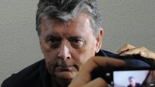Ray Whelan after his brief arrest in Rio on 8 July 2014
