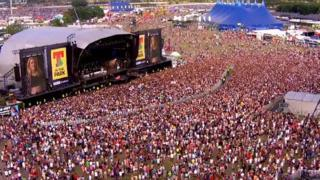 Ellie Goulding plays at T in the Park
