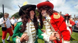 The Catholic king, James II, is put to the sword by William III of Orange every year in the village of Scarva