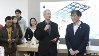 Apple chief executive Tim Cook in Beijing