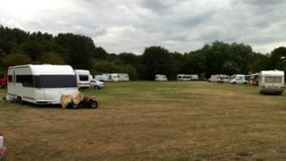 Caravans at Langer Park, Felixstowe