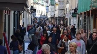People in King Street