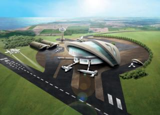 Artist's concept of spaceport