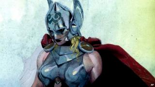 Marvel Comics image showing superhero Thor recast as a woman. 15 July 2014