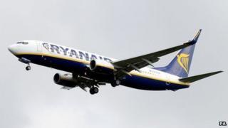 Ryanair Boeing 737 in May 2014