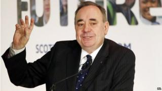 Scotland's first minster Alex Salmond