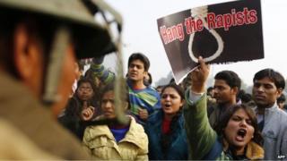 File photo of an anti-rape protest in Delhi