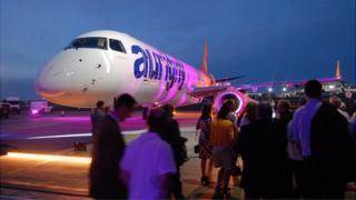 Aurigny Embraer 195 jet
