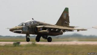A Ukrainian Su-25 jet (archive photo from Ukrainian defence ministry website)