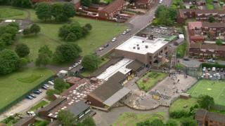 Aerial view of Regents Park Community Primary School