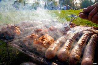 Close up of barbecue