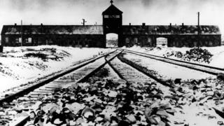 Auschwitz concentration camp in 1945