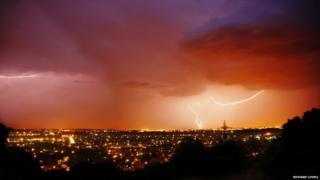 Lightning over Radar Hill