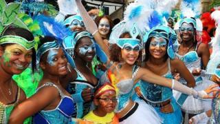 Nottingham Caribbean Carnival parade 2010