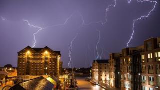 Lightning in Gloucester