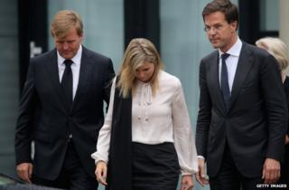 King Willem-Alexander, Queen Maxima and Dutch Prime Minister Mark Rutte in Utrecht (21 July)
