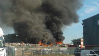 Swindon recycling centre fire